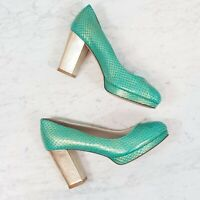 [ SHOES OF PREY ] Womens Leather Heels  Shoes | Size EUR 36