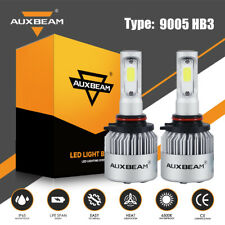 AUXBEAM LED Headlight Kit 9005 HB3 9140 9145 72W 6500K 8000LM Fog Bulb High Beam