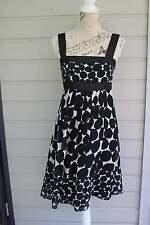 Zara black and white large polka dot pattern, cotton and silk dress