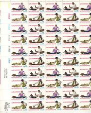 More details for usa-united states 1977 13c postage skilled hands sheet scot 1717-20 mnh
