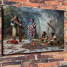 "Art Quality Canvas Print, Oil Painting The Shadow of Ancestor  A5981,16""x20"""