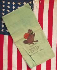 Vintage Boy Scouts Toter the Beaver Canvas Camp Litter Tote Bag Antique Camping
