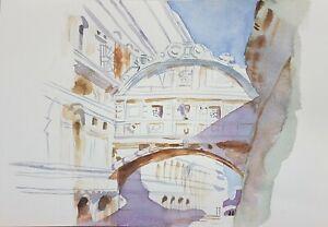 VENEZIA Acquerello tecnica su carta Mirko Loi  dipinto watercolor 45x30 cm