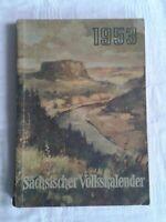 Sächsischer Volkskalender Kalender Werbung Heimatgeschichte Propaganda DDR 1953
