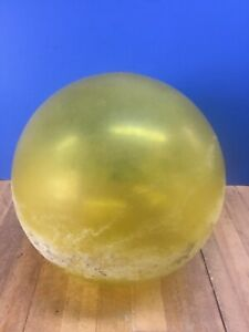 "Vintage Yellow 5.5"" Japanese Glass Fishing Float No Netting"