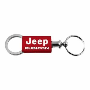 Jeep Rubicon Key Ring Red Aluminum Valet Keychain