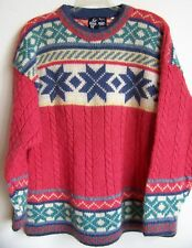 DESIGN by FROST NORWAY Handmade 100% Wool Crewneck Pullover Sweater L