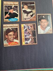 ⚾️1962 TOPPS FIVE CARD LOT⚾️