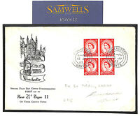 MS633 1963 GB RARE WILDING FDC 2.5d *TYPE II* Illustrated Winchester CDS Booklet