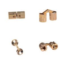 4Pcs 10mm Brass Barrel Cabinet Hinge Cylindrical Hidden Invisible Hinges HI
