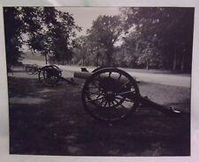 16X20 Original B&W Print Photograph Matted Canons Cemetery Ridge Interior 1980's