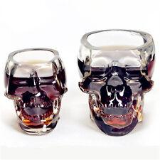 2pcs New Creative Cup Crystal Skull Vodka Wine Bottle Beer Mug Pirates Glass