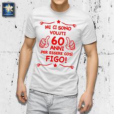 T-shirt 60 anni Uomo Compleanno 1960 Festa Simpatica Divertente Idea regalo Papà