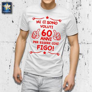 T-shirt 60 anni Uomo Compleanno 1961 Festa Simpatica Divertente Idea regalo Papà
