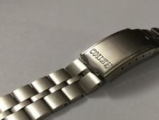 SEIKO FISHBONE S/Steel Gents Watch Strap,20mm,BullHead 6138--0040,NEW.(V-2)