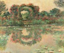 """Les Arceaux Fleuris by Claude Monet - 38 X 43"""" - Fine Art Poster."""