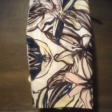 Womens Skirt High Waist Oil Painting FLOWERS Knee-Length Size 4  MULTICOLOR