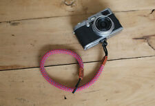 COOL RED Climbing rope 10.5mm  handmade Camera wrist band Generic SLR/DSLR