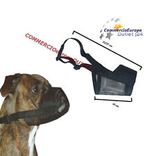 Museruola per Cane in Rete Regolabile NYLON LAVABILE RESISTENTE Muzzle for dog