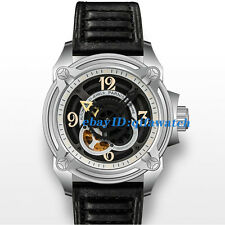 Parnis Sapphire Glass 44mm PVD Case Black Dial Miyota Automatic Men's Watch 2052