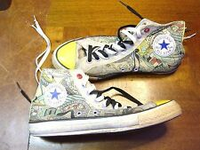 CONVERSE CHUCK TAYLOR LIMITED EDITION RED ART SNEAKERS US 9