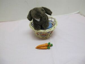 AMERICAN GIRL JULIE ALBRIGHT PET BUNNY NUTMEG WITH ACCESSORIES