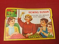 New Vintage Sewing Susan Needle Book With Threader Silver Eye Needles Japan