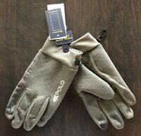 POLO RALPH LAUREN (TOUCH SCREEN) GLOVES GRAPHITE GREY GRAY MENS SZ LARGE L NWT