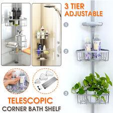 3 Tier Bathroom Toiletries Telescopic Storage Corner Bath Shelves Shelf Rack 🌟