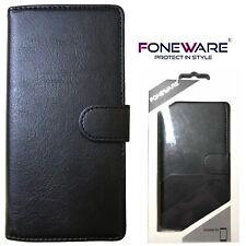 Foneware HTC Desire 825 Luxury Wallet Cover Flip Slim Book Case Card Slot Black
