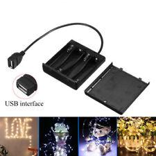 Portable Mini USB Power Supply Battery Box for DC5V 5050 3528 LED Strip light