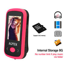 AGPTEK Bluetooth MP3 Player Sports HiFi Sound FM Voice Recorder 8GB USA