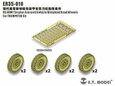 ET Model 1/35 #ER35011 Stryker Series Weighted Wheels for AFV Club (8 pcs)