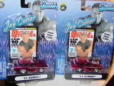 Muscle Machines 2004 JAY CUTLER 1955 55 CHEVY NOMAD Hot Pink Over Chrome Set