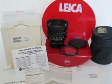 Leica 11822 50mm f:1.0 Noctilux-M #3680989 complete with cards/case MINT IN BOX