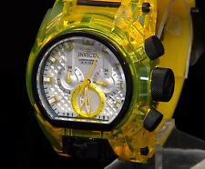 RARE  Invicta Bolt ZEUS Magnum Anatomic Dual Time Chronograph 52mm Black Yellow