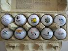 Lot XX Konvolut 10 verschiedene Golfbälle mit Logo Schwerpunkt AT-Motive