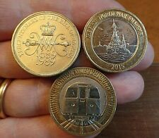 £2 Coins 1989 Bill of Rights 2013 London Underground 2015 Royal Navy Circ
