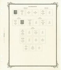 Scott Specialty Pages for Barbados, 1852-1991, Some Stamps