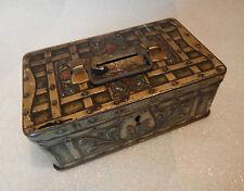 Vintage Art nouveau W.dunmore and sons biscuit money box 14x8.5 cm