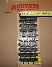 Lot of 10 Curtis Terminal Strip Barrier Block 6 Screw Turret Type New Old Stock