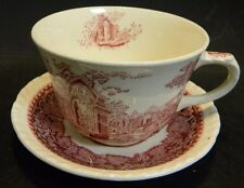 "Vintage Mason's Ironstone Red on White Tea Cup 3.13"" x 3.75"" & Saucer 5"" Excell"