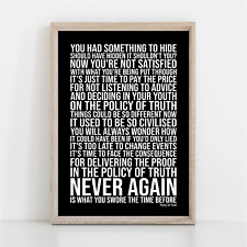 More details for depeche mode policy of truth song lyrics poster print wall art