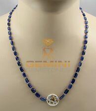 Kyanit-Kette Disthen blau Kyanit Halskette mit Silber für Damen 55 cm