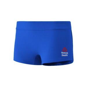 """Reebok 2017 CrossFit Games Women's Blue 2"""" Knit Shortie Knit Shorts CF8920"""