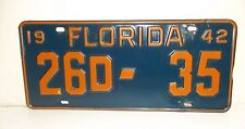 1942 42 FL License Plate 26D-35 Florida Tag Buick others Osceola County Florida
