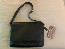 Like New no Tags Coach Sullivan Smooth Leather Messenger Bag Crossbody BLACK