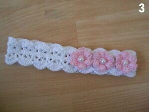 bandeau bébé fille,bandeau baptème dentelle headband au crochet,acessoire bebe