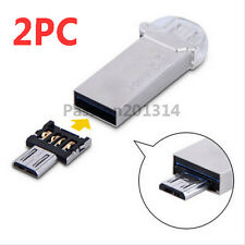 2pcs Micro USB Male to USB Female OTG Adapter Converter For Android Tablet Phone
