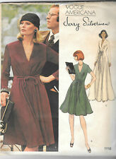 Vtg Vogue 1118 Jerry Silverman Evening Front Gathered Dress Pattern 12 Bust 34